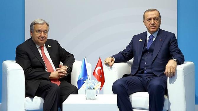 Erdoğan, BM Genel Sekreteri ile görüştü