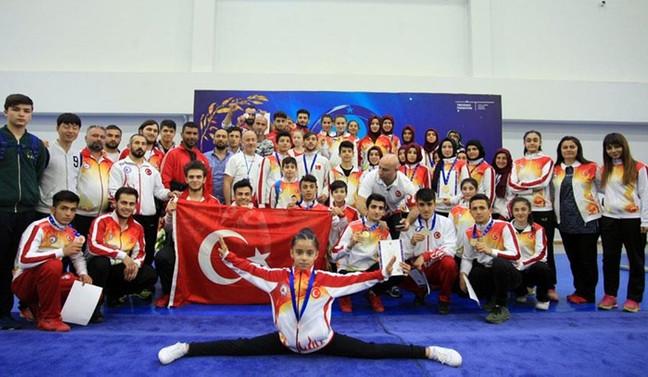 Wushu Şampiyonası'nda 25 madalya
