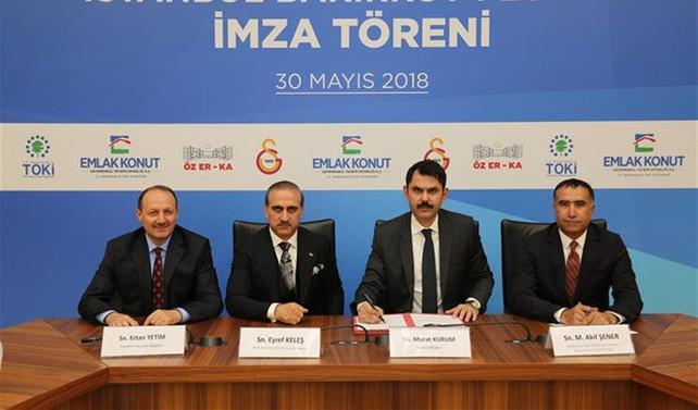 Galatasaray'ın Florya arazisi için arsa için imzalar atıldı
