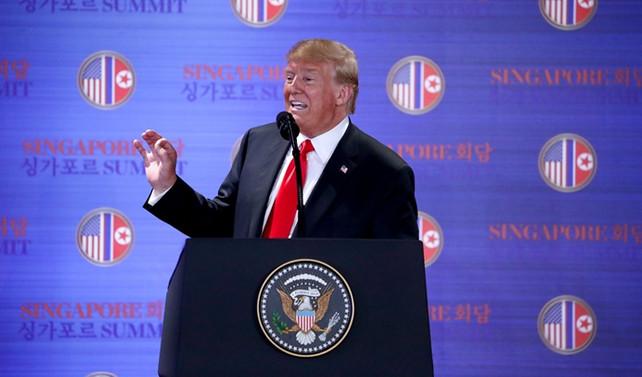 Trump, görüşme sonrası basın açıklaması yaptı