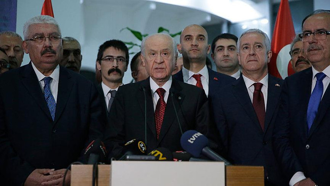 Bahçeli: Meclis'in kilit partisi olduk