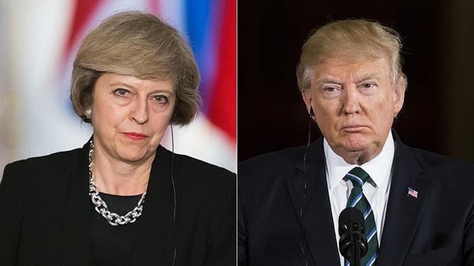 May ile Trump telefonda görüştü