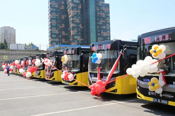 İETT filosuna 375 yeni otobüs katıldı