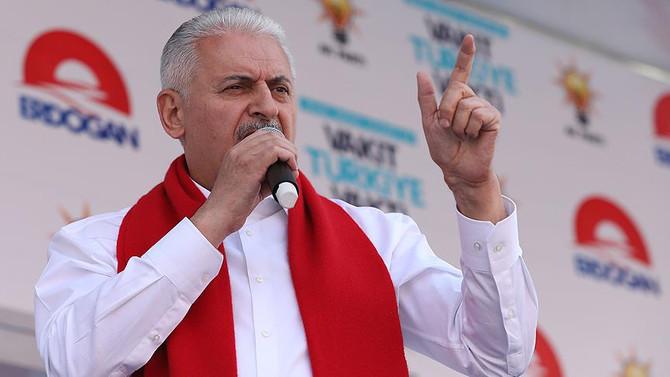 Başbakan: HDP'nin Kürtlere verdiği zararın haddi hesabı yok
