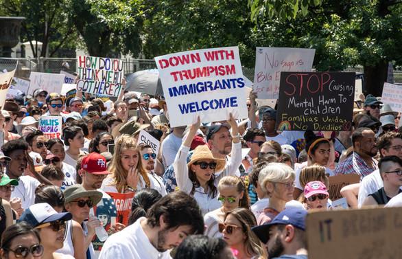 ABD'de Trump'ın göçmen politikası protesto edildi