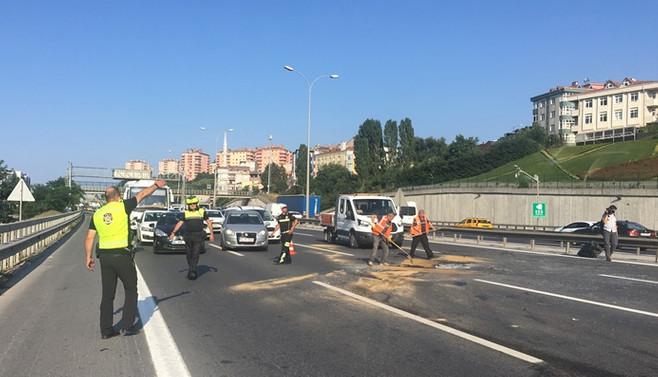 TEM Otoyolu'nda trafik kazası