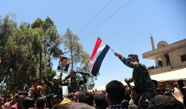 Suriye ordusu, Deraa'ya bayrak çekti