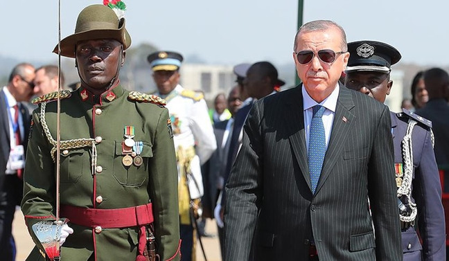 Cumhurbaşkanı Erdoğan Zambiya'da