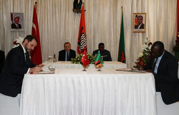Türkiye ile Zambiya 12 anlaşmaya imza attı