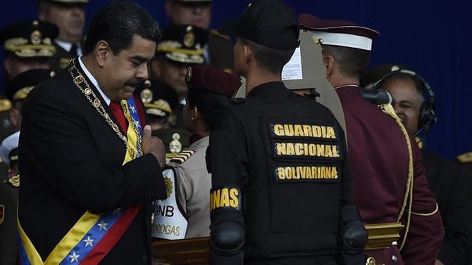 Maduro'ya suikast girişiminde üst düzey askerlere gözaltı