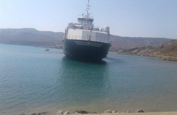 Çanakkale'de feribot karaya oturdu