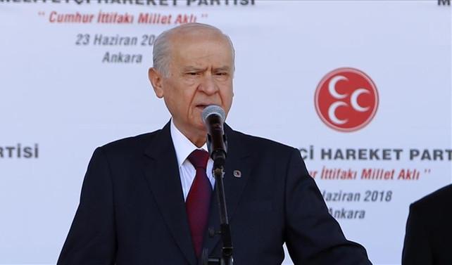 Bahçeli: İstanbul'dan aday göstermeyeceğiz