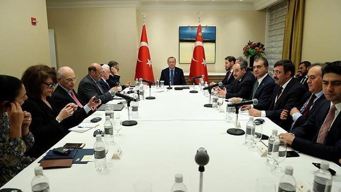 Erdoğan, Yahudi kuruluşlarının temsilcileriyle görüştü