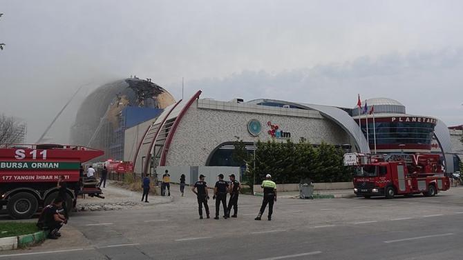 Gökmen Uzay Havacılık ve Eğitim Merkezi inşaatında yangın