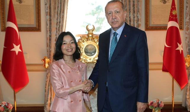 Cumhurbaşkanı Erdoğan, Japonya Prensesi ile görüştü