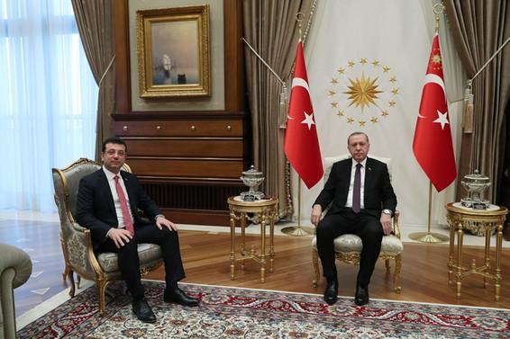 Cumhurbaşkanı Erdoğan, İmamoğlu ile görüştü