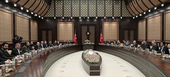 Cumhurbaşkanı Erdoğan, sinema sektörü temsilcileriyle bir araya geldi
