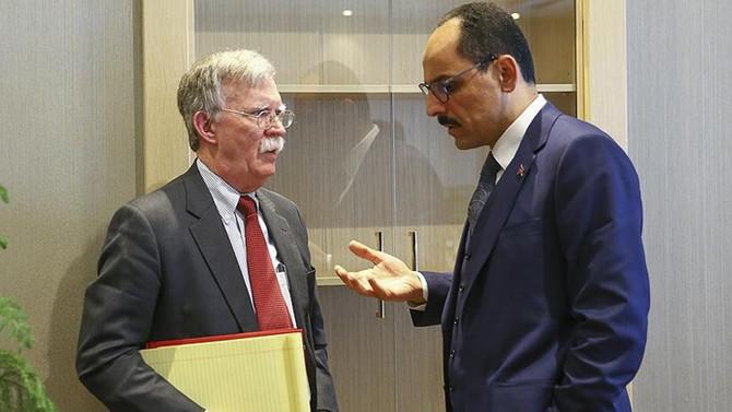 Kalın, Trump'ın danışmanı Bolton ile görüştü