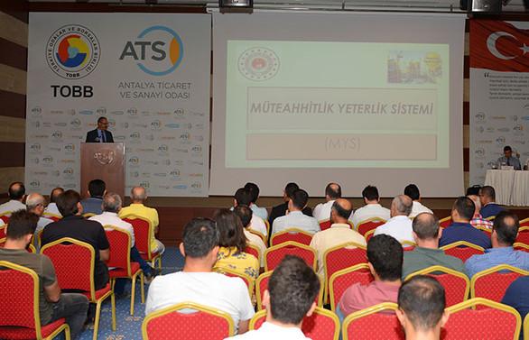 Yapı müteahhitleri ATSO'da bilgilendirildi