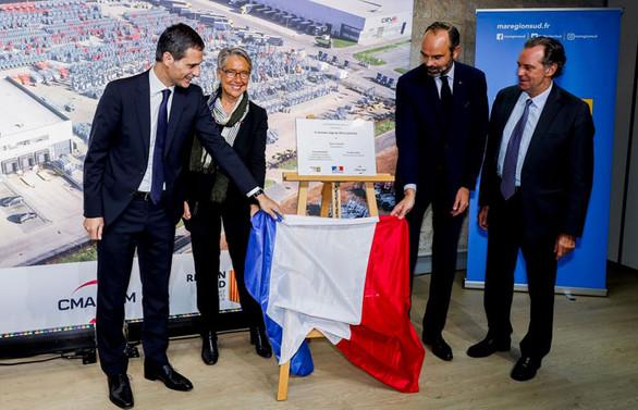 CEVA Lojistik'in Marsilya'daki merkezini Başbakan Edouard Philippe açtı