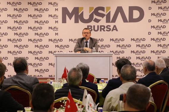 MÜSİAD'ın konuğu Rektör Prof. Dr. Kılavuz oldu
