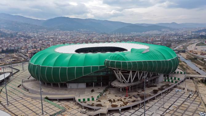 Bursa Büyükşehir Stadyumunda çalışmalar yeniden başladı