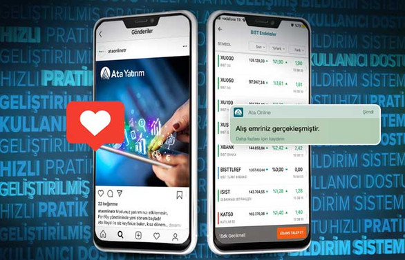 """Ata Yatırım'ın mobil uygulaması """"Ata Onlıne Mobil"""" yenilendi"""