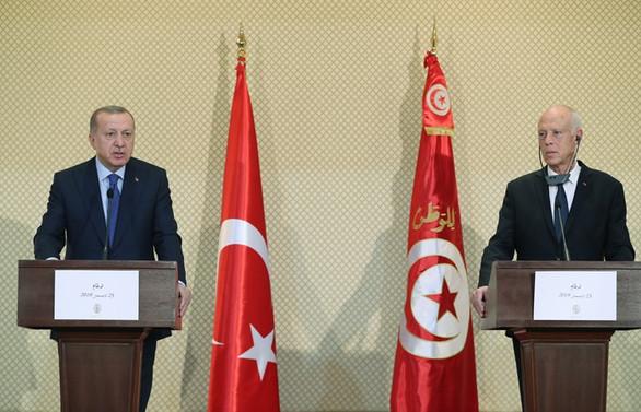 Erdoğan: Libya'da istikrarın sağlanması çabalarına Tunus'un da katkıları olacak