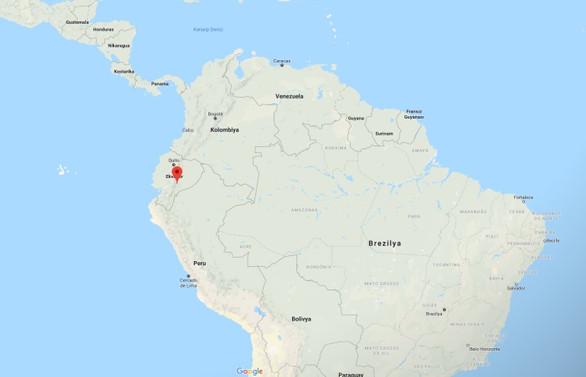 Ekvador'da 7,5 büyüklüğünde deprem