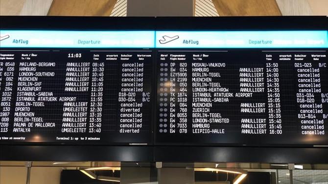 Hamburg Havalimanı'nda grev: 72 uçuş iptal