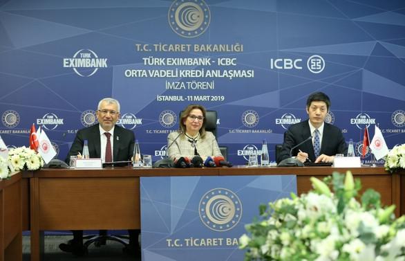 Çinli ICBC'den Eximbank'a 350 milyon dolarlık fon
