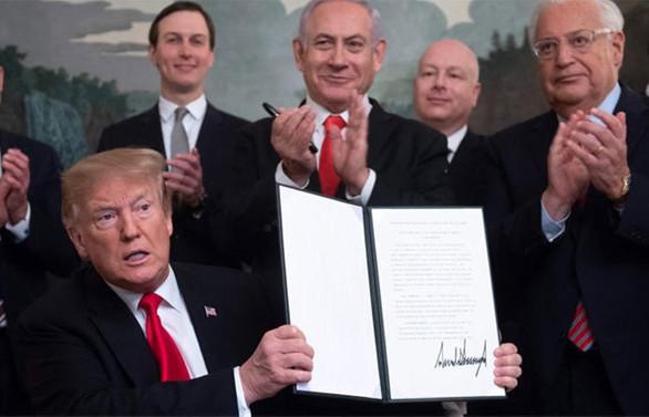Trump, Golan Tepeleri kararnamesini imzaladı