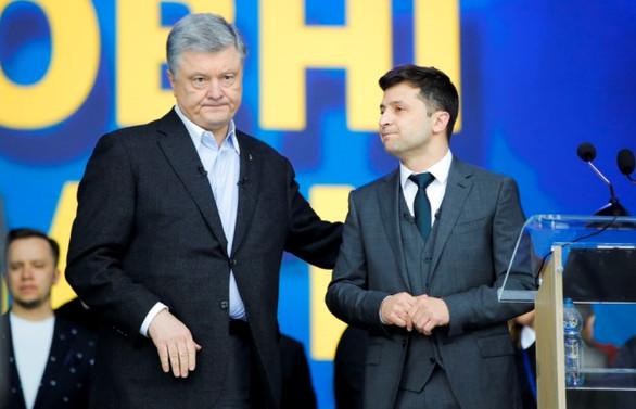 Ukrayna'da başkan adayları futbol stadında tartıştı