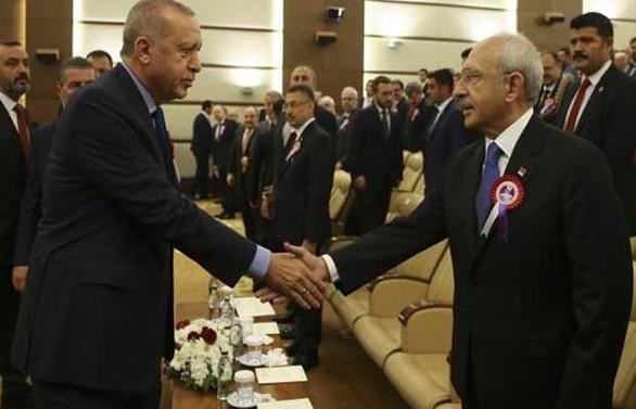 Erdoğan ile Kılıçdaroğlu AYM töreninde buluştu