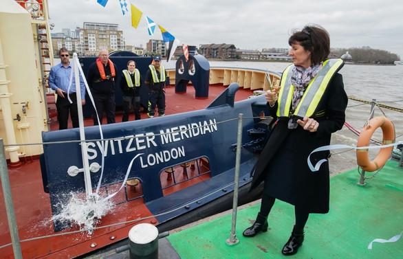Sanmar'ın, Svitzer'e ürettiği 21. tekneye 'Meridian' adı verildi