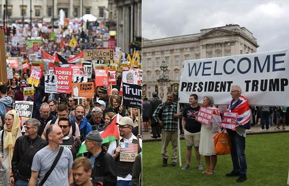 Trump, destekçilerini 'kalabalık' buldu