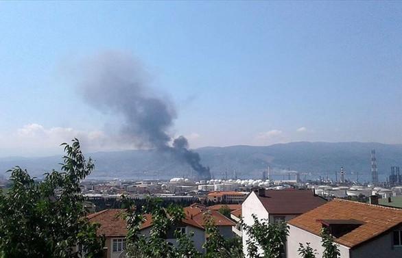 Tüpraş Rafinerisi'nde dumanlanma