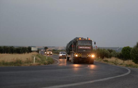 Suriye sınırına mühimmat takviyesi
