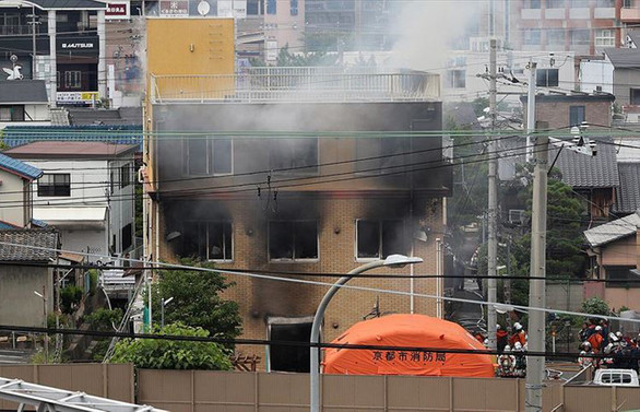 Japonya'da animasyon stüdyosunda yangın: 33 ölü