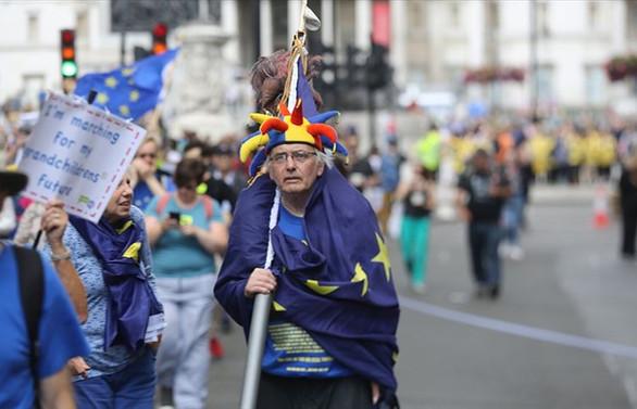 Binlerce kişi Brexit ve Johnson'a karşı yürüdü