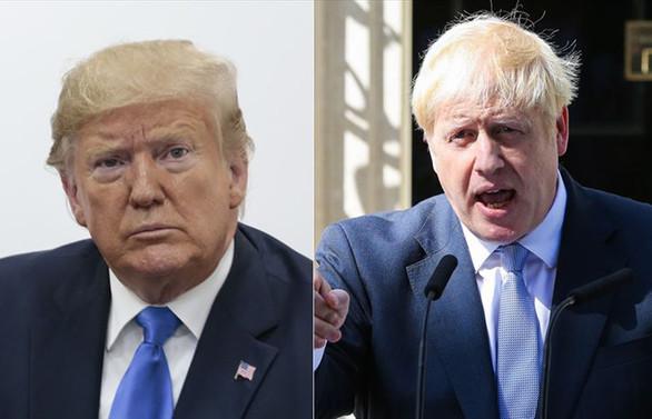 Trump ile Johnson ABD-İngiltere ilişkilerini görüştü