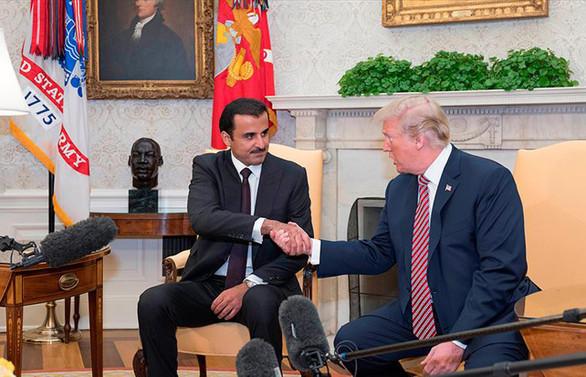 Trump ile Katar Emiri Şeyh Temim'den iş birliği mesajları