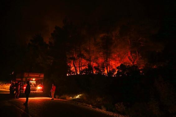 Seferihisar ve Menderes'teki yangınlar yerleşim merkezlerinden uzaklaştırıldı