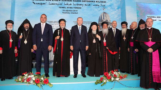 Erdoğan, Süryani Kilisesi'nin temelini attı