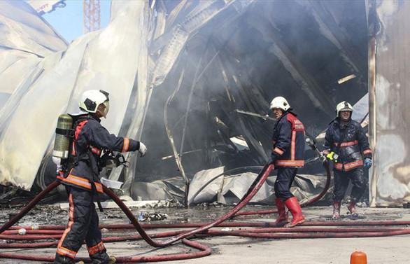 Ankara'da depoda yangın çıktı