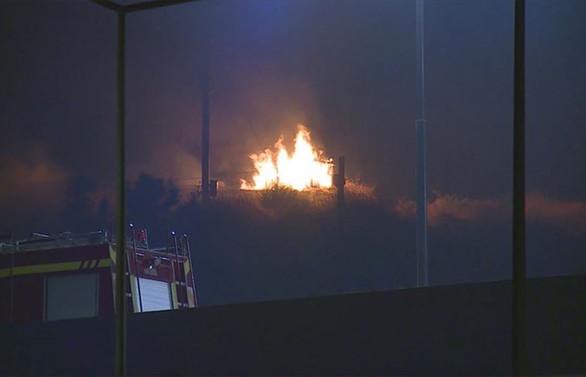 KKTC'de cephanelikte yangın