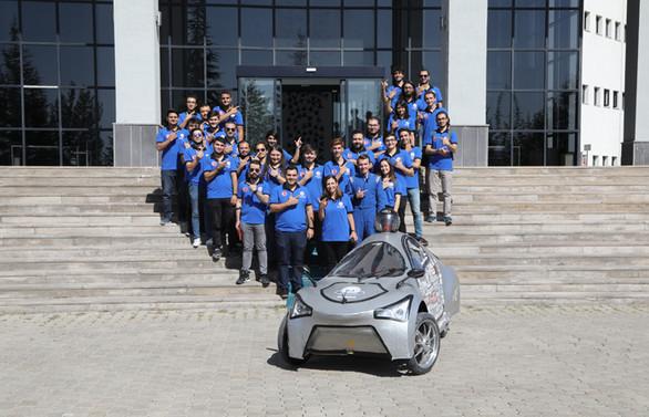 Kayseri'nin elektrikli aracı 'VoltaCar' yarışa hazırlanıyor