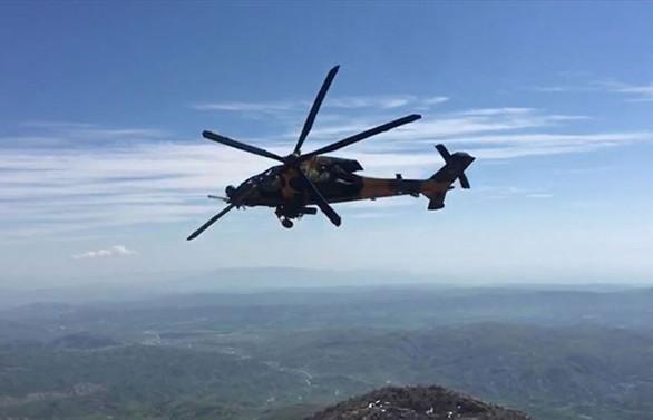 'Güvenli Bölge' kapsamında üçüncü ortak helikopter uçuşu