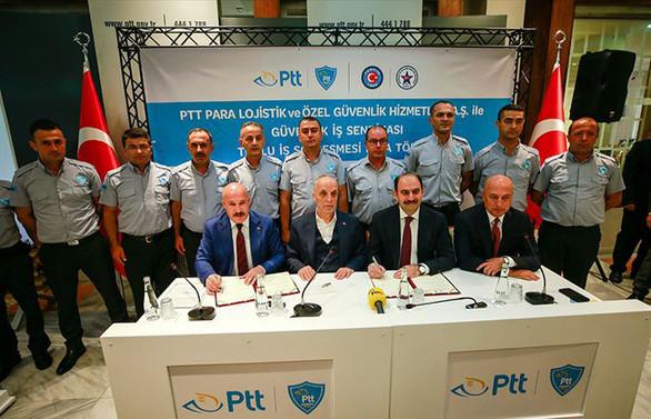 PTT PAL ile Güvenlik-İş Sendikası Toplu İş Sözleşmesi'ne imzalar atıldı