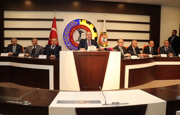 Afyonkarahisar Ticaret ve Sanayi Odası Bakan Varank'ı ağırladı
